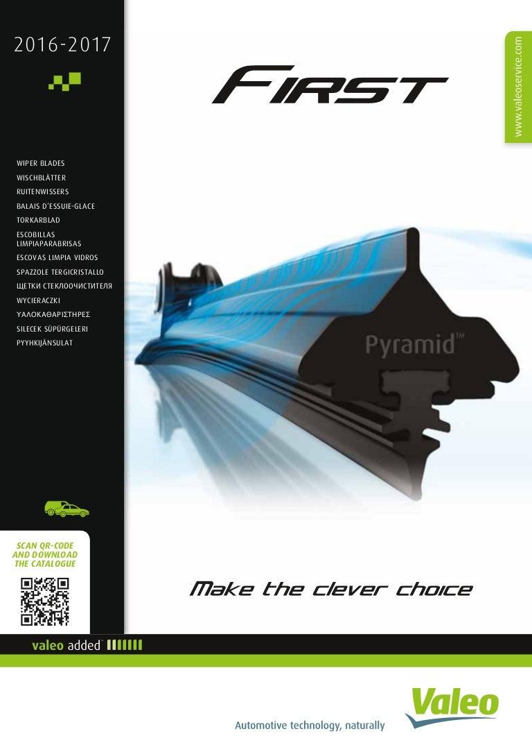 European Valeo First Wiper blade catalogue 2016-2017 953268