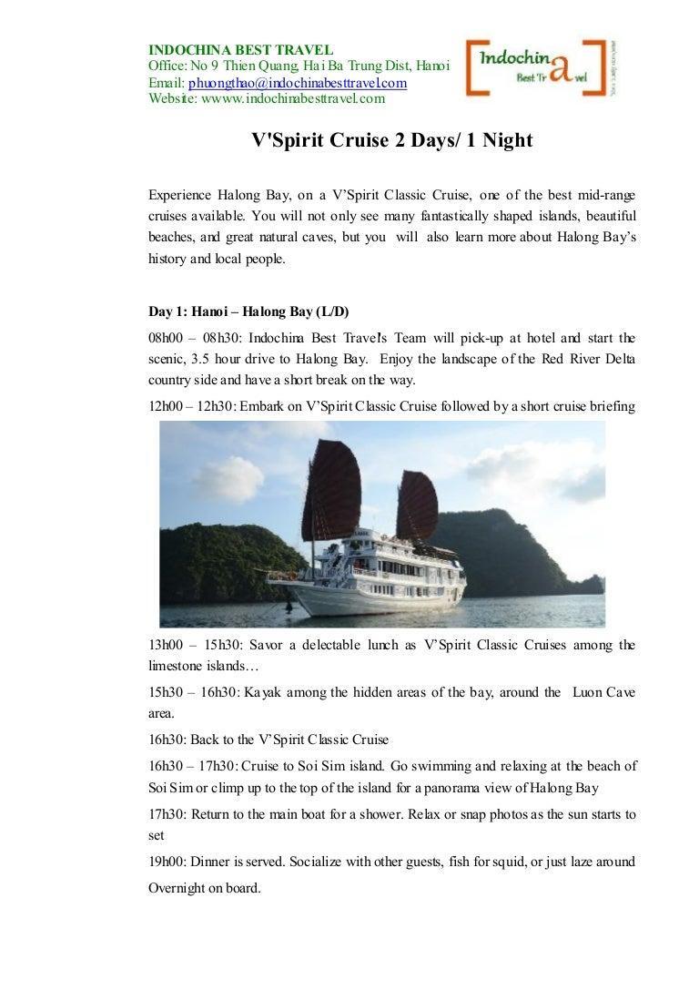 V'spirit Cruise 2 Days/1 Night