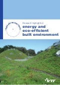 Research highlights in energy and eco-efficient built environment