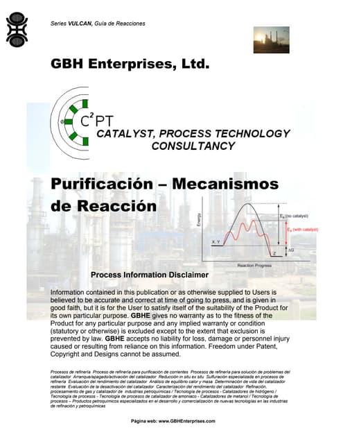 Purificación – Mecanismos de Reacción