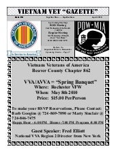 Vva chapter 862 july 2010 newsletter