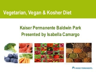Vegan, Vegetarian and Kosher Diet