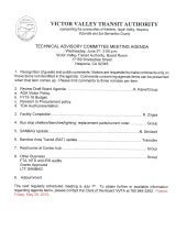 VVTA Technical Advisory Committee Meeting Agenda - June 3, 2015