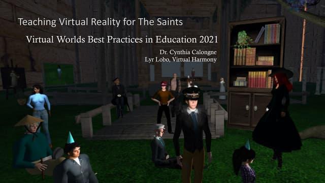Vwbpe21 teaching vr for the saints