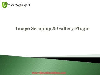 Image Scraping & Gallery Plugin