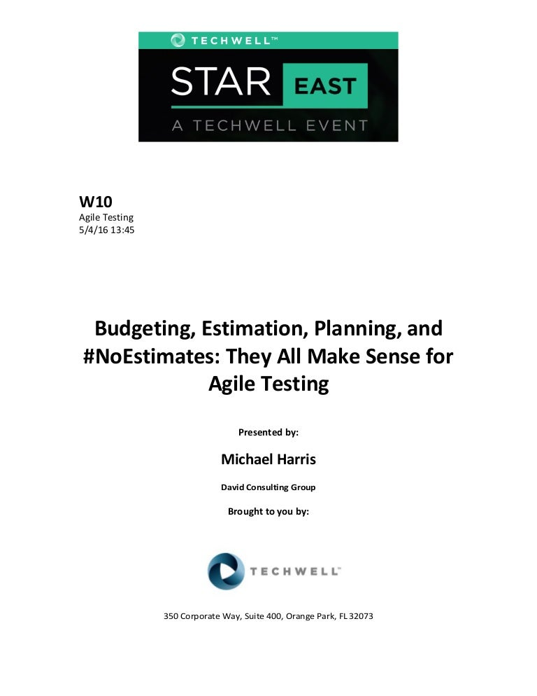 Budgeting, Estimation, Planning, and #NoEstimates: They All Make Sens…