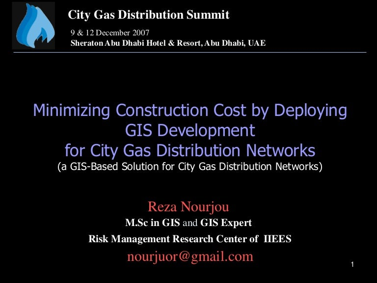Gis For City Gas Networks