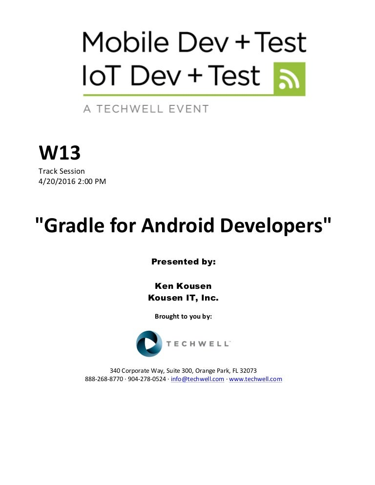 Gradle for Android Developers