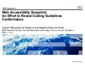 W4A2013 - Web Accessibility Snapshot: An Effort to Reveal Coding Guidelines Conformance
