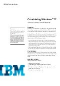 Considering Windows 7?