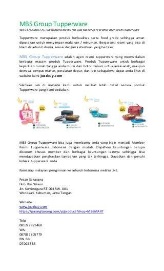 087837805779, katalog tupperware indonesia, katalog promo tupperware juli2017, agen tupperware resmi