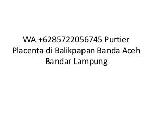 Wa +6285722056745 purtier placenta di balikpapan banda aceh bandar lampung
