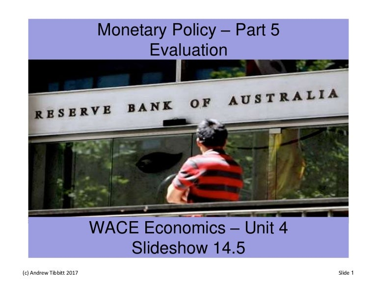 monetary policy in australia pdf