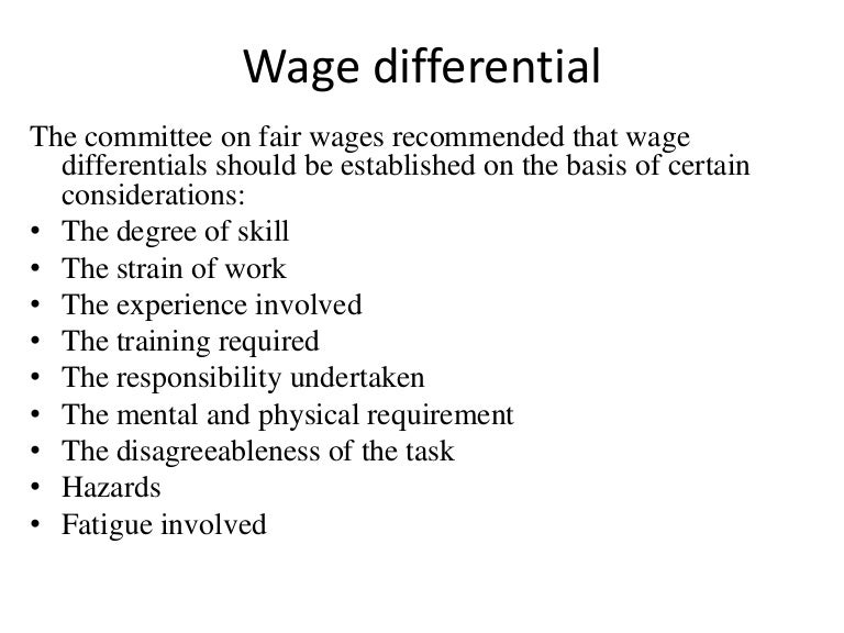wage differentials essay Compensating wage differentials - higher pay can often be some reward for risk-taking in certain jobs,  synoptic example essays (volume 1) for a level economics added to your shopping cart synoptic example essays (volume 1) for a level economics sku: 02-4130-30039-03 printed edition.