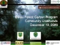 Berau Forest Carbon Program Community Livelihoods