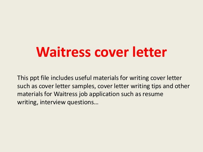 Waitressing Cover Letter No Experience Jolivibramusicco - Sample resume for waitress job with no experience