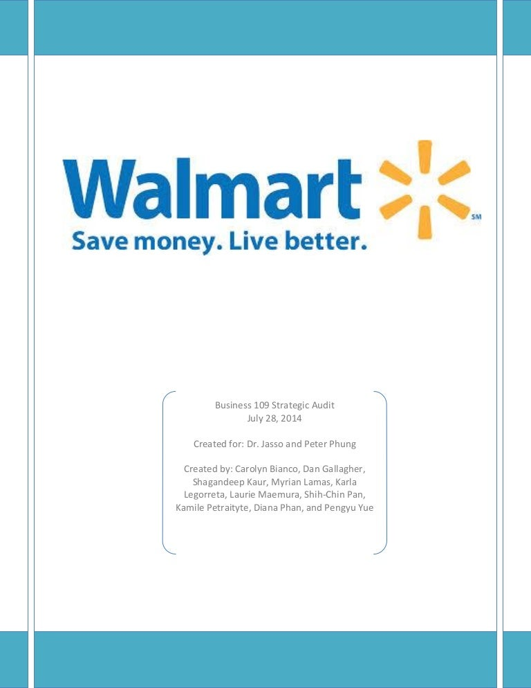 Wal mart strategic audit-- final edit