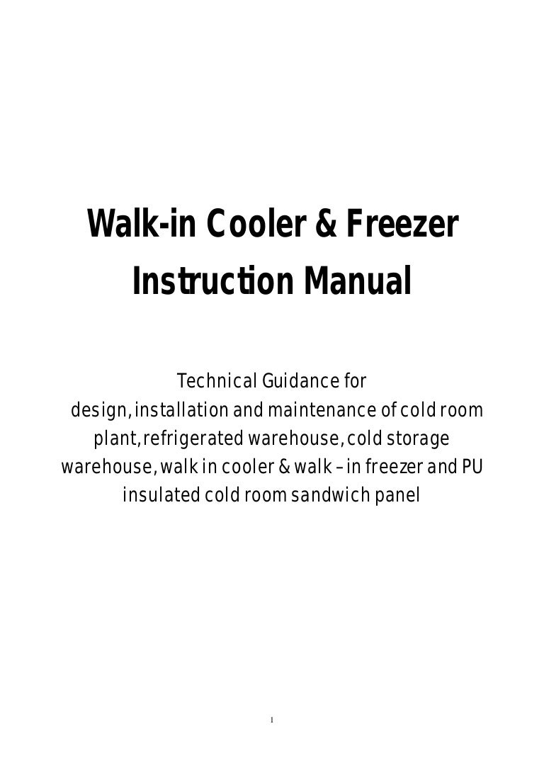 Cold Room Manuwal Wiring Diagram Walk In Cooler 6 Freezer Plant Refrigerated
