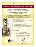 Ohio Campus Compact & Walsh University offer Service-Learning Research Workshop
