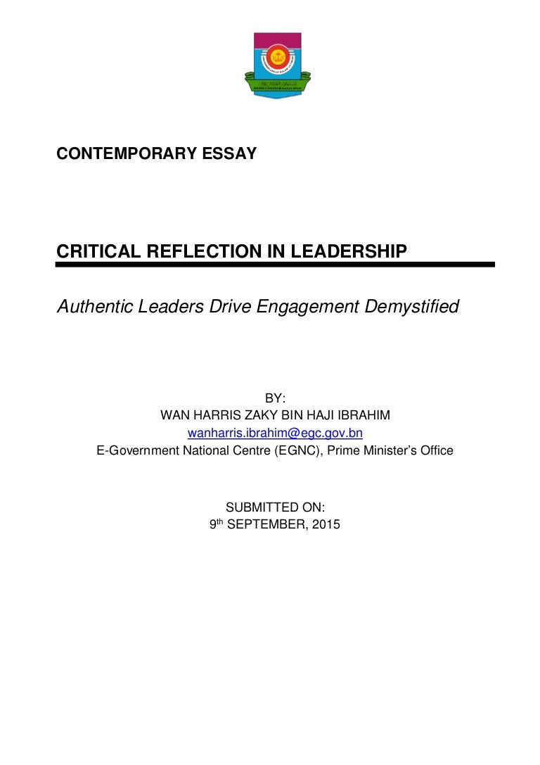 critical reflection in leadership authentic leaders drive engagemen