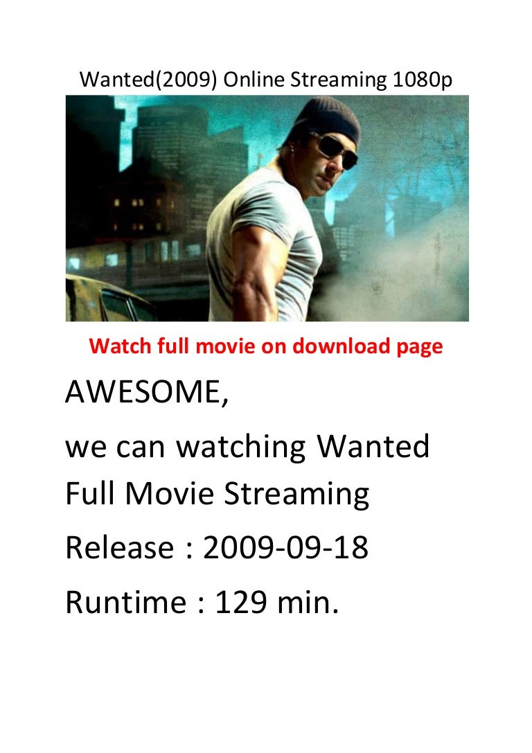 Wanted(2009) online streaming 1080p comedy action films.