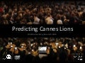 Predicting Cannes Lions - Be On and Realeyes - WARC Advertising Research 2013