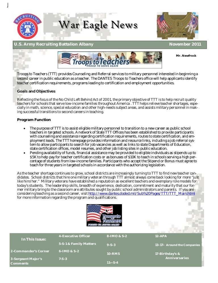 War eagle newsletternov 2011