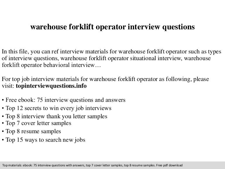 warehouse - Duties Of A Forklift Operator