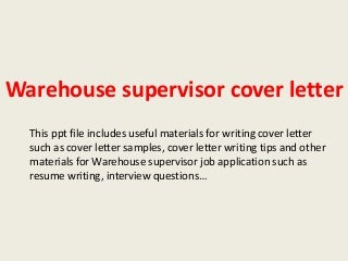 Warehouse Supervisor | LinkedIn
