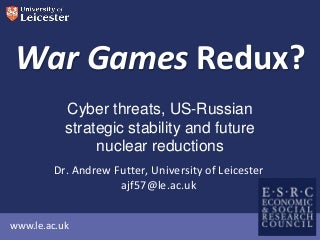 War Games Redux?