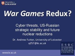 War Games Redux?