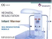 Infant Warmer with resuscitation module