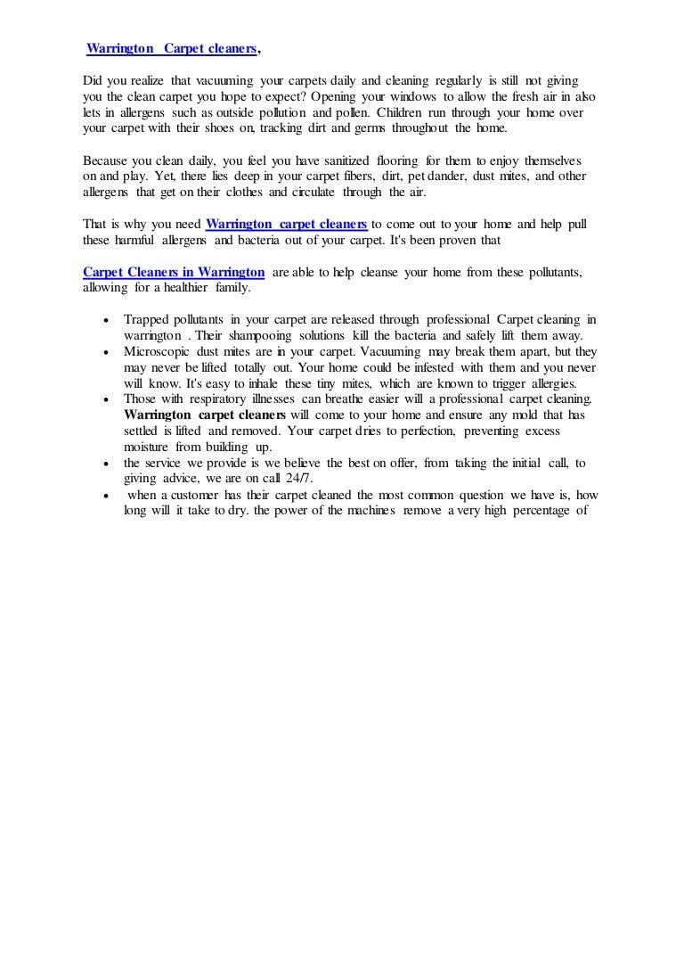 Warrington Carpet Cleaners Blog