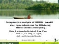 Comparative analysis of REDD+ benefit sharing mechanisms for Efficiency, Effectiveness and Equity