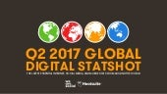 Global Digital Statshot Q2 2017