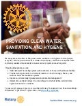 The Cause You Care About - Water and Sanitation Handout
