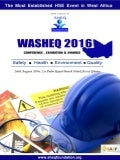 WASHEQ  2016 promotional brochure