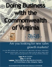 Washington County Selling to the State Noon Knowledge Session, March 18, 2015
