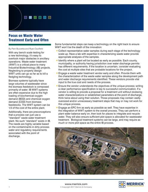 Waste watertreatment Merrick