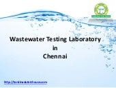 Reliable Wastewater Treatment in Chennai