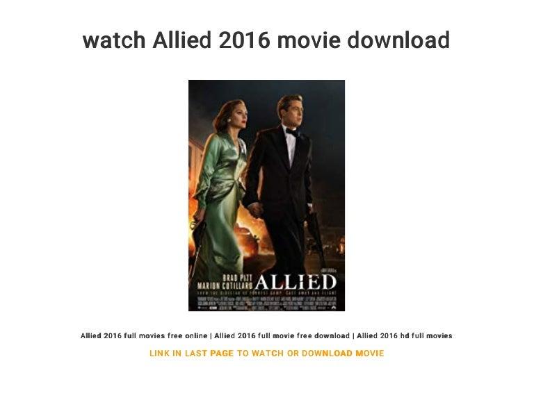 watch allied 2016 full movie online free