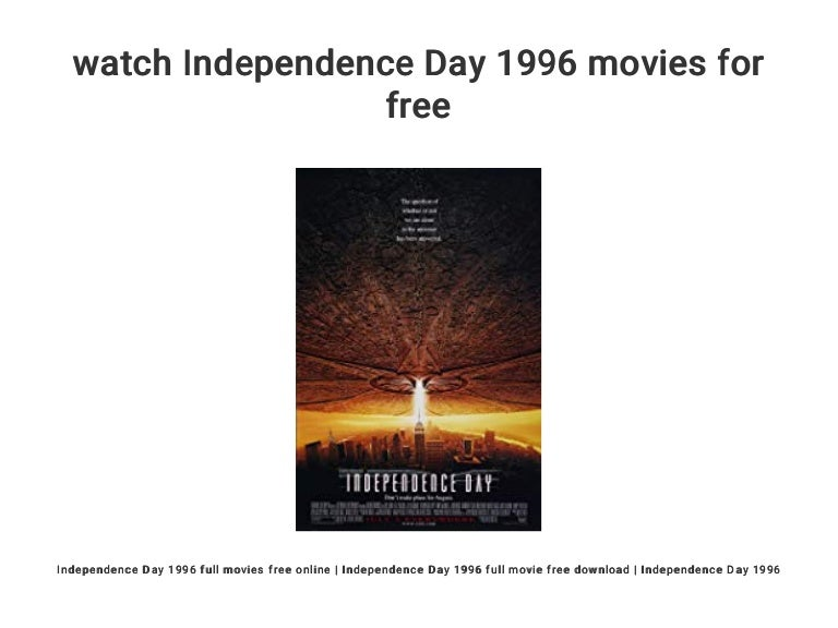 watch Independence Day 1996 movies for free