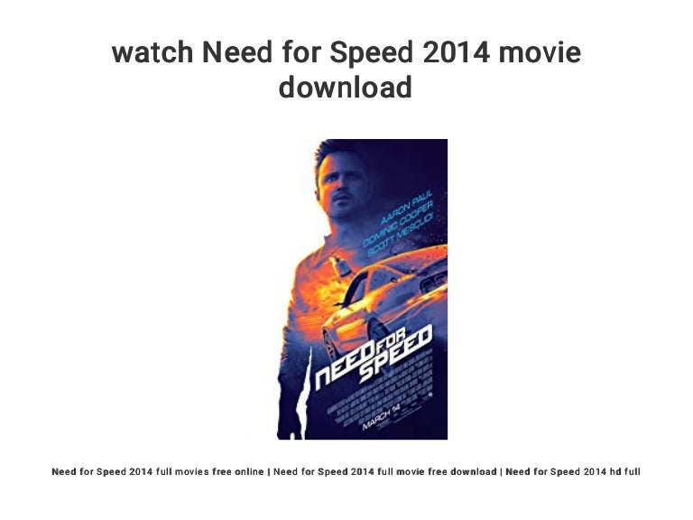 Watch Need For Speed 2014 Movie Download