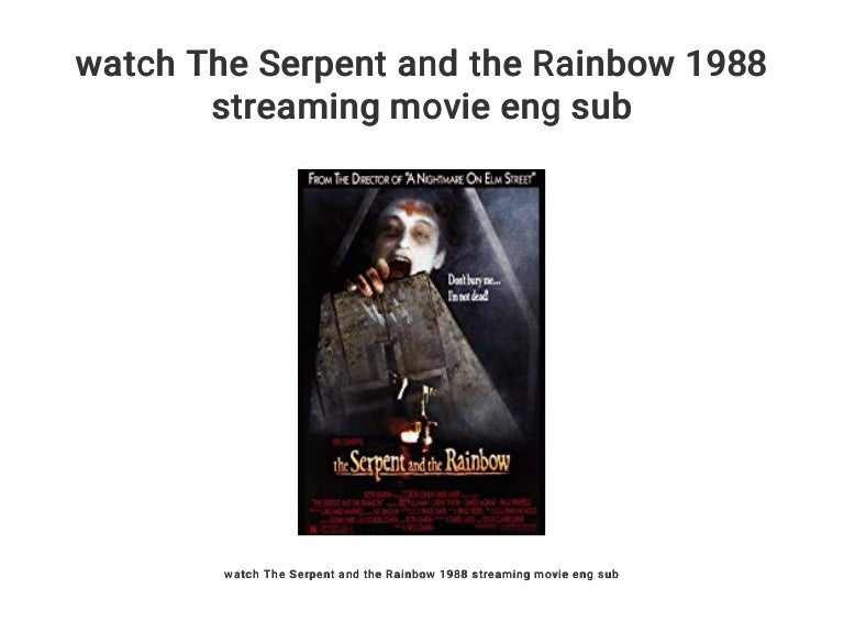 watch The Serpent and the Rainbow 1988 streaming movie eng sub