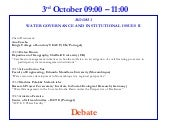 Water Governance And Institutional Issues Ii Debate