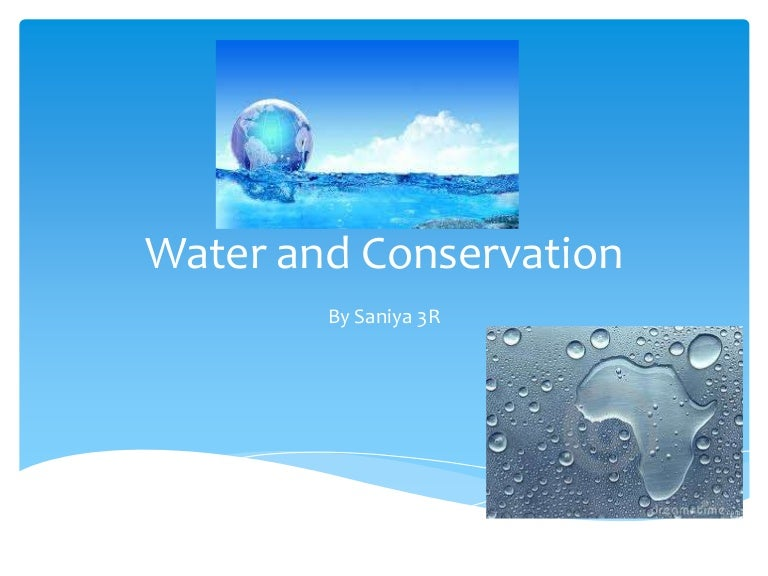 why do we need to conserve water wikipedia