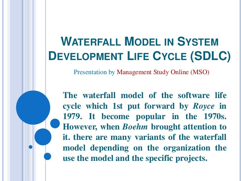 Waterfall model in system development life cycle - photo#30