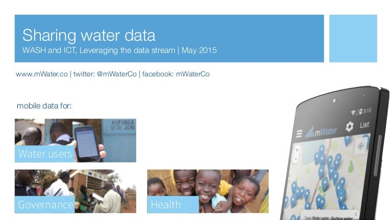 mWater - Water point data exchange presentation