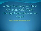 Information About Water Pro Restoration in Las Vegas