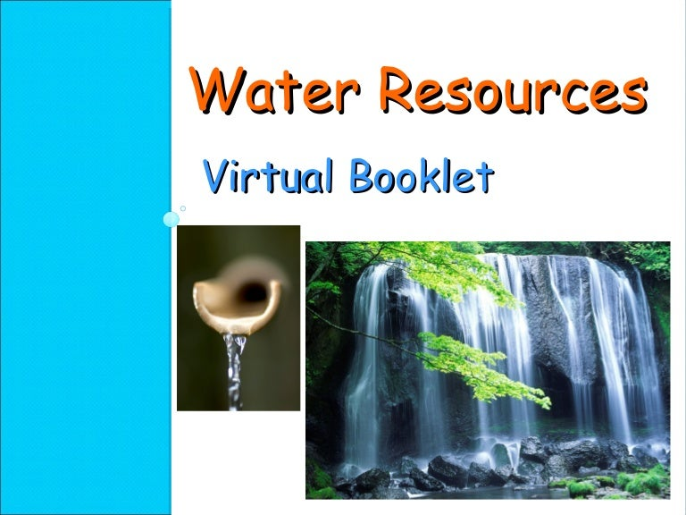 water resources power point presentation, Presentation templates